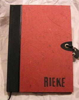 """Tagebuch mit Schloss  """"Nature Red"""""""