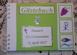 Gästebuch Erstkommunion Erinnerungsbuch Apfelgrün