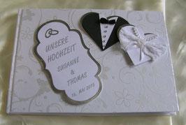 """Gästebuch für die Hochzeit """"Bride and Groom"""""""