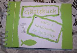 Gästebuch Konfirmation Erinnerungsbuch apfelgrün