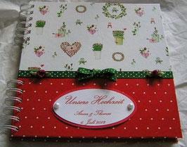 """Gästebuch für die Hochzeit """"Hearts and Dots"""""""
