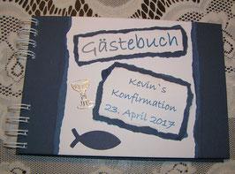 Gästebuch Konfirmation Erinnerungsbuch Konfirmation Naviblau
