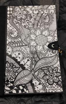 """Tagebuch  Skizzenbuch Notizbuch Zentangle """"Sunflower"""""""