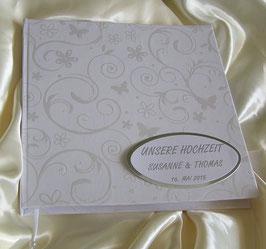 """Klassisches Gästebuch für die Hochzeit  personalisiert """"Butterfly"""""""