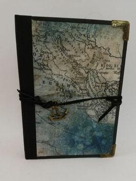 """Nostalgisches Tagebuch Skizzenbuch Notizbuch """"Carta"""" A6"""