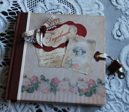 """Tagebuch"""" Vintage"""" klein mit Schloss"""