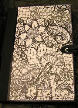 "Tagebuch  Skizzenbuch Notizbuch Zentangle ""Botanica"""