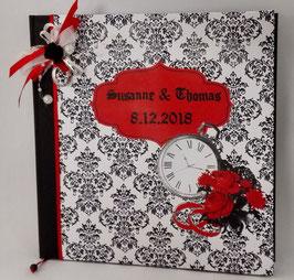 """Gothic-Hochzeit Gästebuch """"Damast"""""""