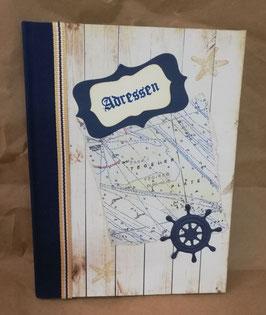 "Handgefertigtes Adressbuch/Telefonbuch ""Maritim"""