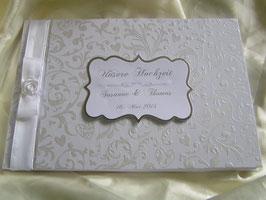 """Gästebuch für die Hochzeit """"White Rose"""""""