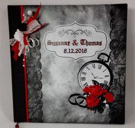 """Gothic-Hochzeit Gästebuch """"Steampunk"""""""