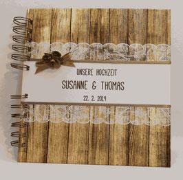 Gästebuch Hochzeit Vintage Spitze quadratisch