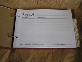 """Zusatzseiten für Rezeptbuch """"Grannys Receipes"""""""