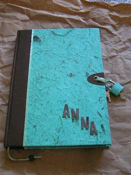 """Abschließbares Tagebuch """"Nature mint"""""""