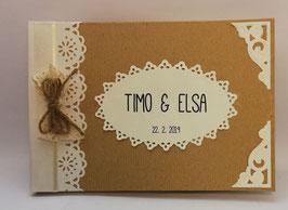 Hochzeitsalbum Vintage A5 Gästebuch Hochzeit mit Namen
