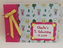 """Gästebuch Erinnerungsalbum Kindergeburtstag  """"Sommertag"""""""