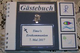 Gästebuch Erstkommunion Erinnerungsbuch Navyblau