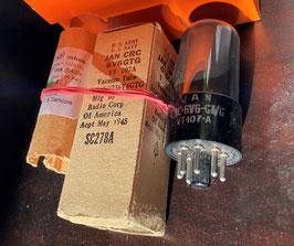 6V6GT/GVT-107-A USA  RCA Hytron SYLVANIA Smoked Glass : the top of the pop