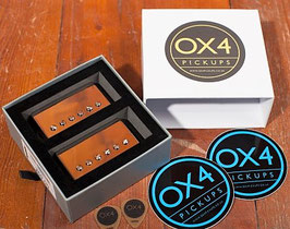 The famous OX4 Humbucker Set Low Output A4 magnet