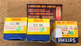 ECC88 Philips New in Box 60's  6DJ8, 6922 double-triode  **** Matched pair possible