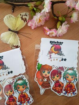 Stickerset Vio/Koko/Henrietta