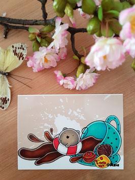 """Postkarte """"Pieps Welle"""""""