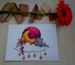 Postkarte Mondmaler