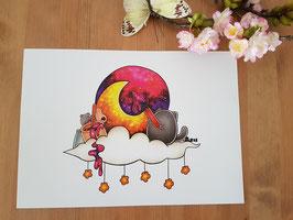 """Poster """"Mond Maler"""""""