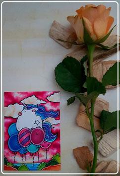 Kakao Karte Flugobjekt Balloons