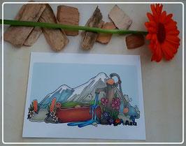 Postkarte Bergmäuse