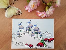 """Postkarte """"Wolkenstadt"""""""