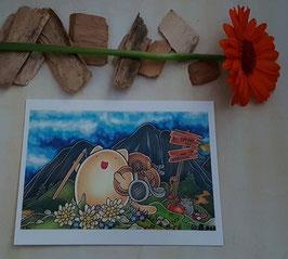 """Postkarte """"Wandermaunz"""""""