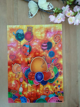 "Poster ""Balloons"""