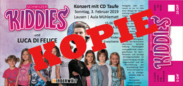Schwiizer Kiddies - Ticket Konzert KINDER