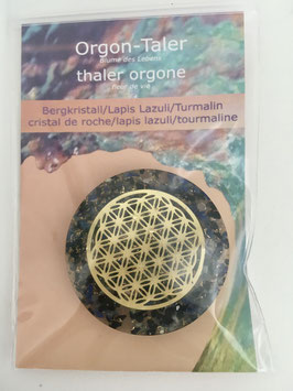 Orgon-Taler Bergkristall/Lapis Lazuli/Turmalin
