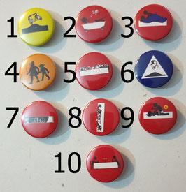 10 badges Ø2.5cm