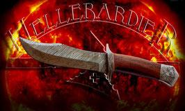 Hellebardier - Damast Jagdmesser für Outdoor, Camping, Jagd, Adventure