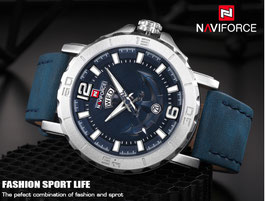 NAVIFORCE - 9112, Army, elegant, 3 ATM, blau