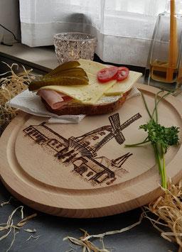 Frühstücksbrett Xanten - Krimhildsmühle