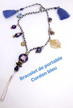 BRACELET DE PORTABLE CORDON BLEU CHARMS