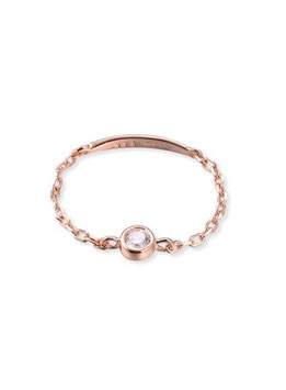 Bague chainette one diams rose