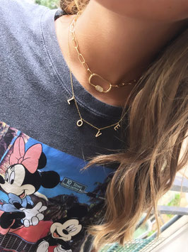 COLLIER LOVE GOLD