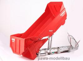 Spindelantrieb mit montierter Krampe-Kipper-Mulde