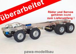 4 - Achsen Fahrgestell auf Tamiya-Basis 8x8