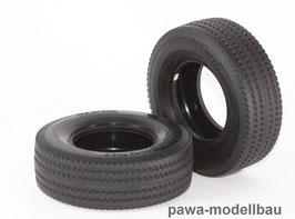 Tamiya-Reifen breit, hart, 2 Stück