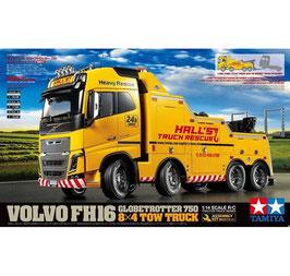 Tamiya 56362 1:14 Abschlepper Volvo FH16 750 8x4 300056362 + Tamiya 56553 1:14 ACU-Hebeeinheit für Abschlepper