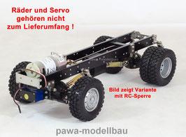 2-Achsen Fahrgestell 4x4 höhergelegt mit