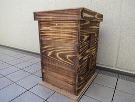 3段重箱巣箱+ミツロウ