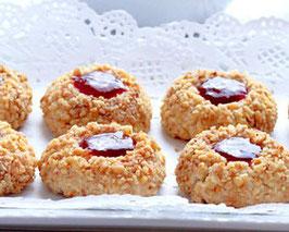 Gâteaux biscuits aux noix & confiture
