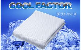 クールファクター 接触冷感敷パット(ダブルサイズ140×205㎝)【4500202D】